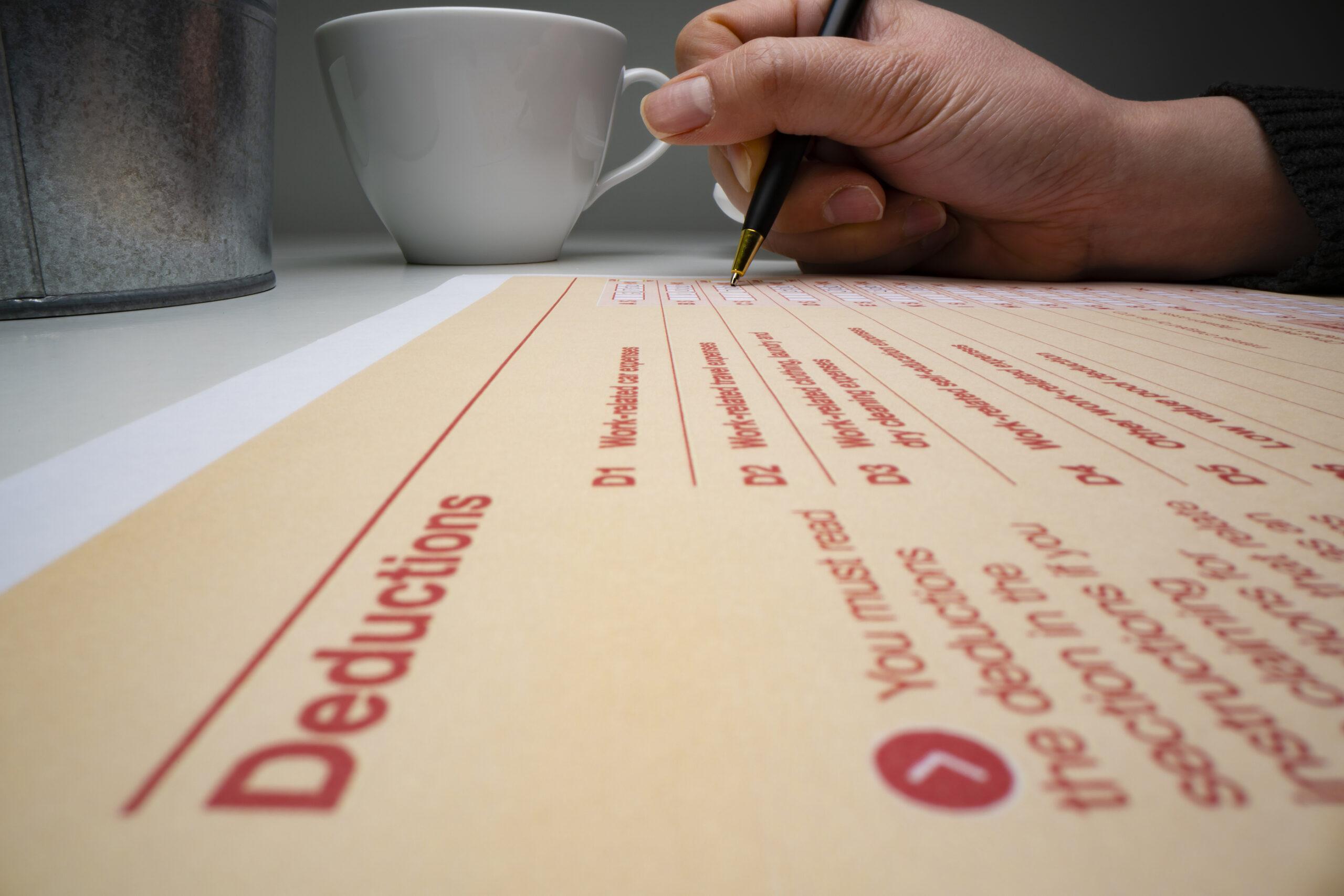 Deduction Form on ATO return